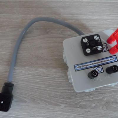 Boitier test bobine hydraulique DIN EN 175 301-803-A (HIRSCHMANN GDM-séries)