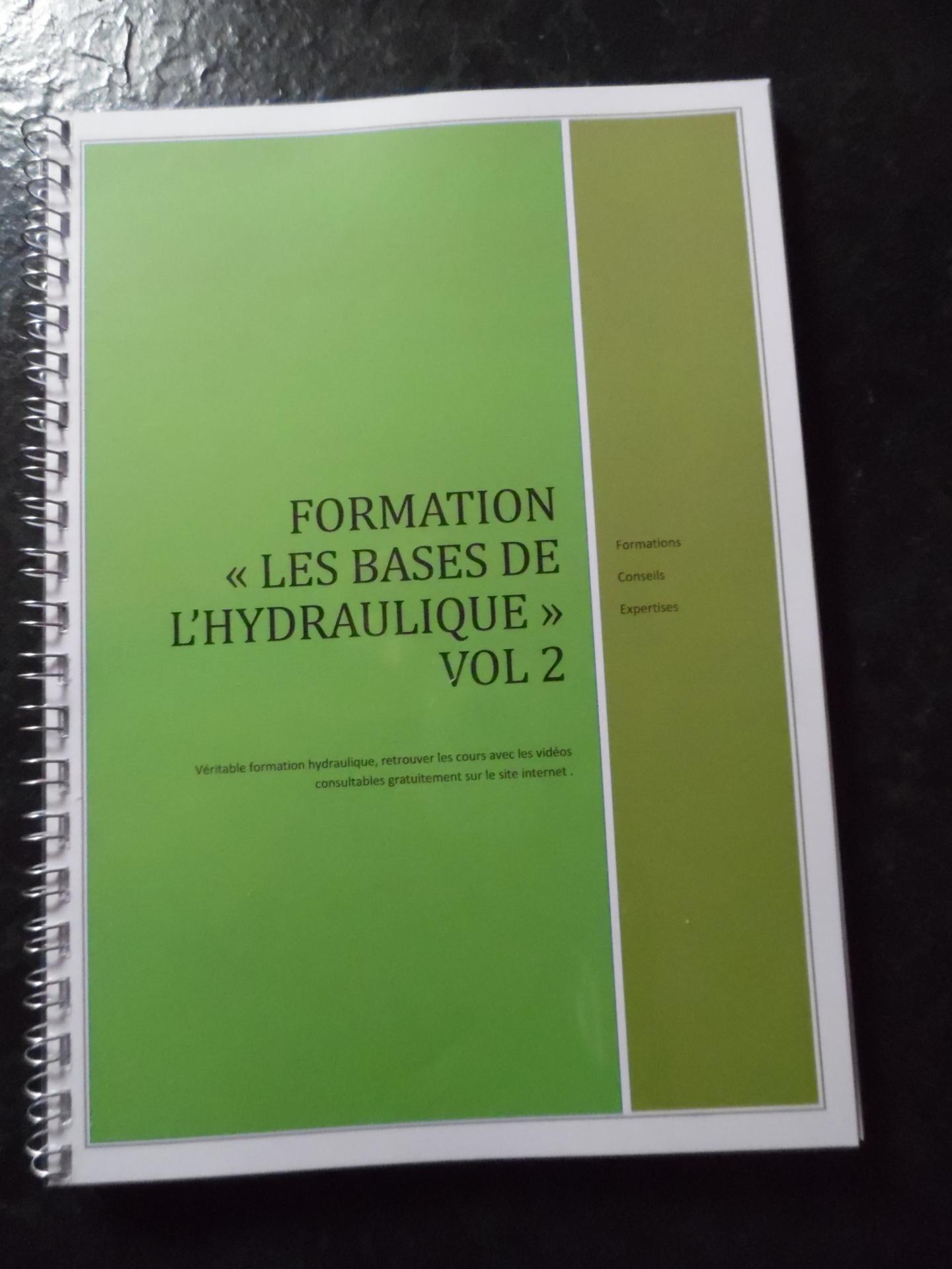 Formation : les bases de l' hydraulique vol 2 (livre + vidéos)