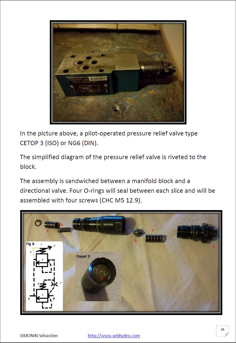 Hydraulic training the basics vol 1 pressure relief valve