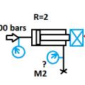 Question relative au schéma :Quelle est la pression lue sur manomètre M2 ?